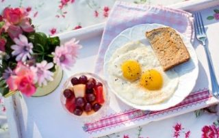 Breakfast Healthy Morning Yolk Fried Eggs Toast