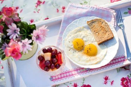Breakfast Healthy Morning Yolk Fried Eggs Toast